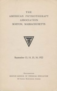 First Annual Conference Held in Boston.