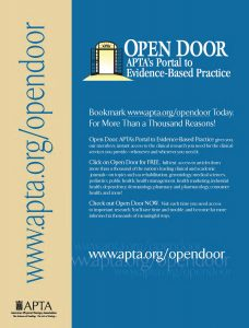 Open Door Portal to Physical Therapy Research Databases Is Launched.