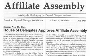 Affiliate Assembly for PTAs Is Established.
