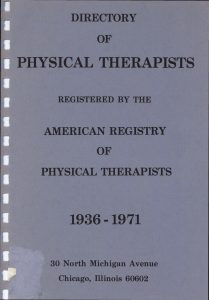 American Registry of Physical Therapists Dissolved.