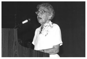 First Mary McMillan Lecture.