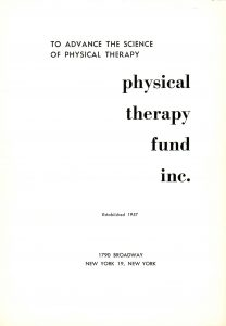 The Physical Therapy Fund Is Established.