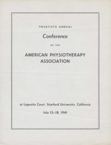 The First Physical Therapy CE Programs Are Held.