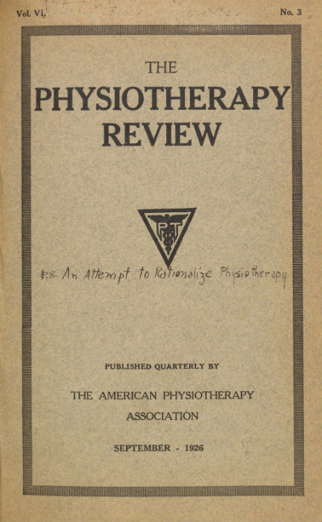 P.T. Review Changes the Name to Physiotherapy Review.