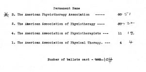 The AWPTA Becomes the American Physiotherapy Association.